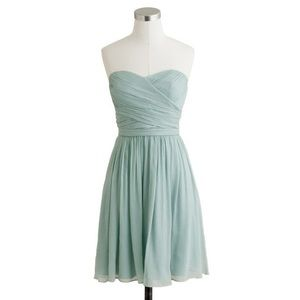 Used, J. Crew bridesmaid dress in the color dusty shale for sale
